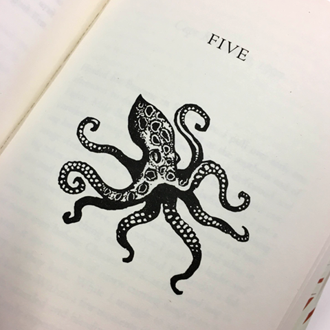 A chapter illustration of an octopus in Island Home.