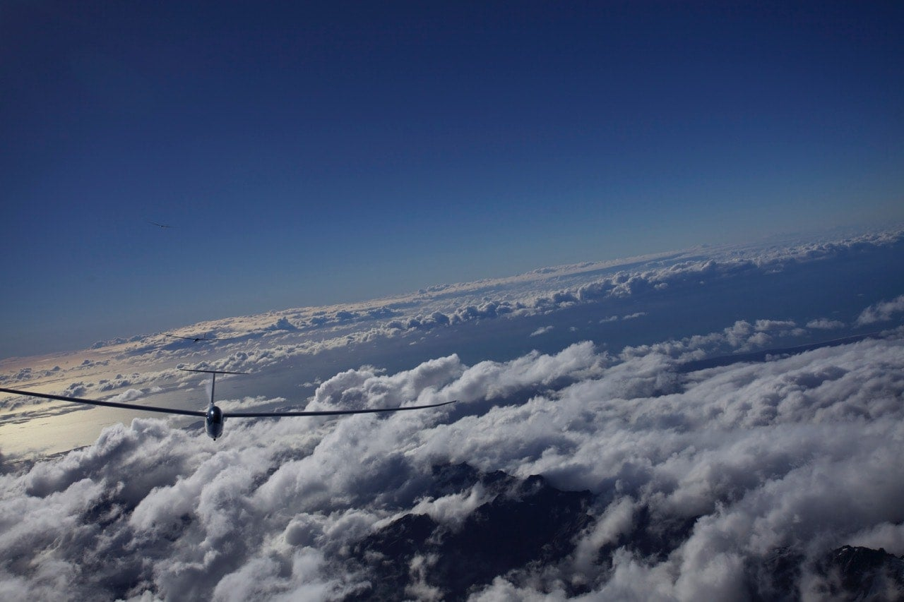 Gliding in the Southern Alps in New Zealand