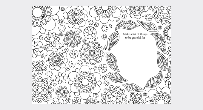 Gratitude colouring sheet