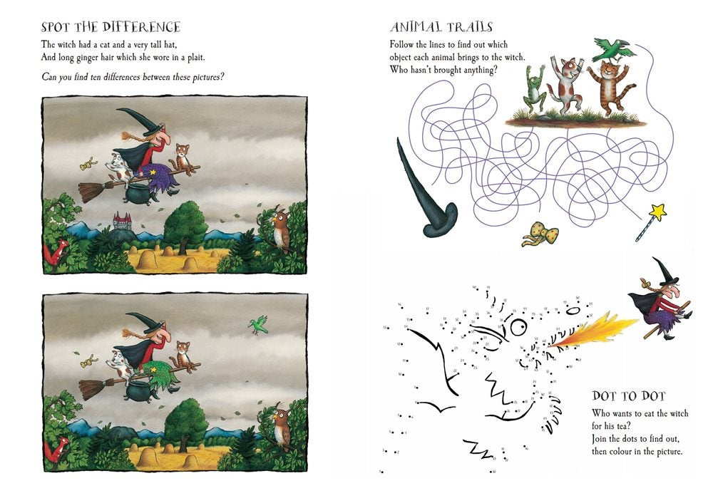 Activity Sheet - Spot the difference - Room on the Broom - Julia Donaldson - Axel Scheffler