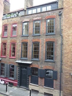 The house in Wilkes Street where the silk company began