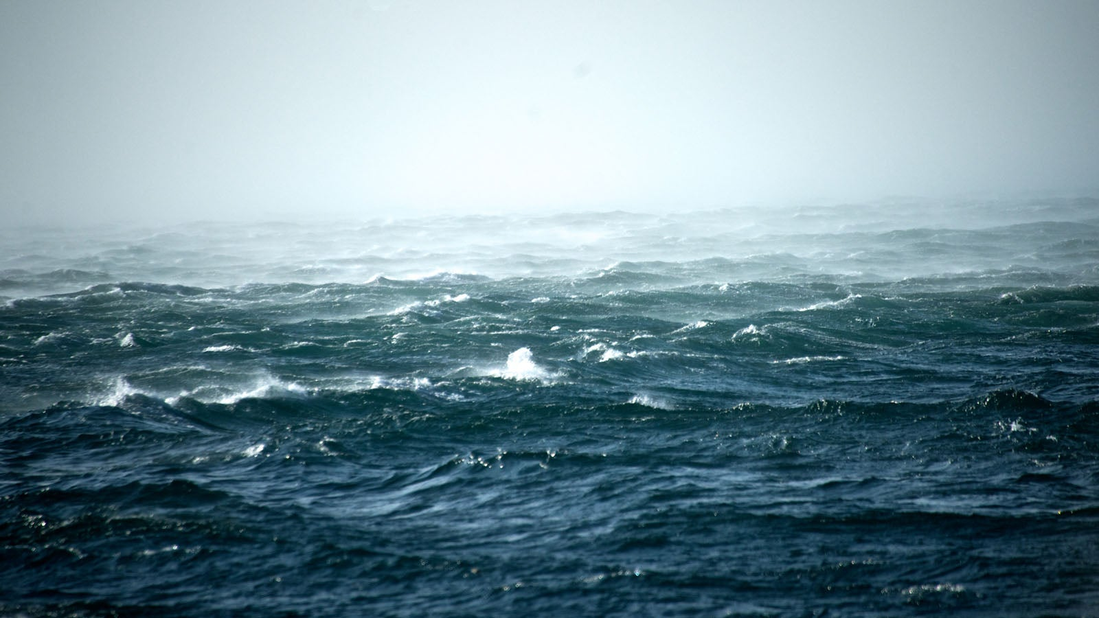 A photo of the ocean