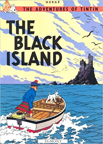Book cover for The Adventures of Tintin: The Black Island