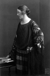 A black and white photograph of Mabel Lucie Attwell.