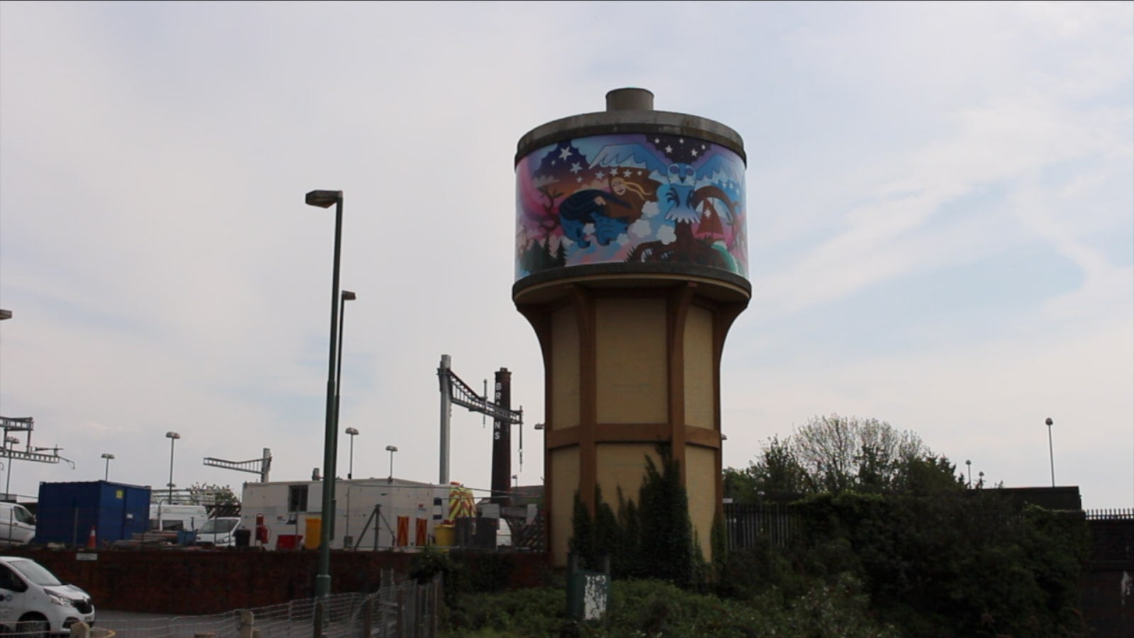 Weird and Wonderful Wales Water Tower Mural, Cardiff