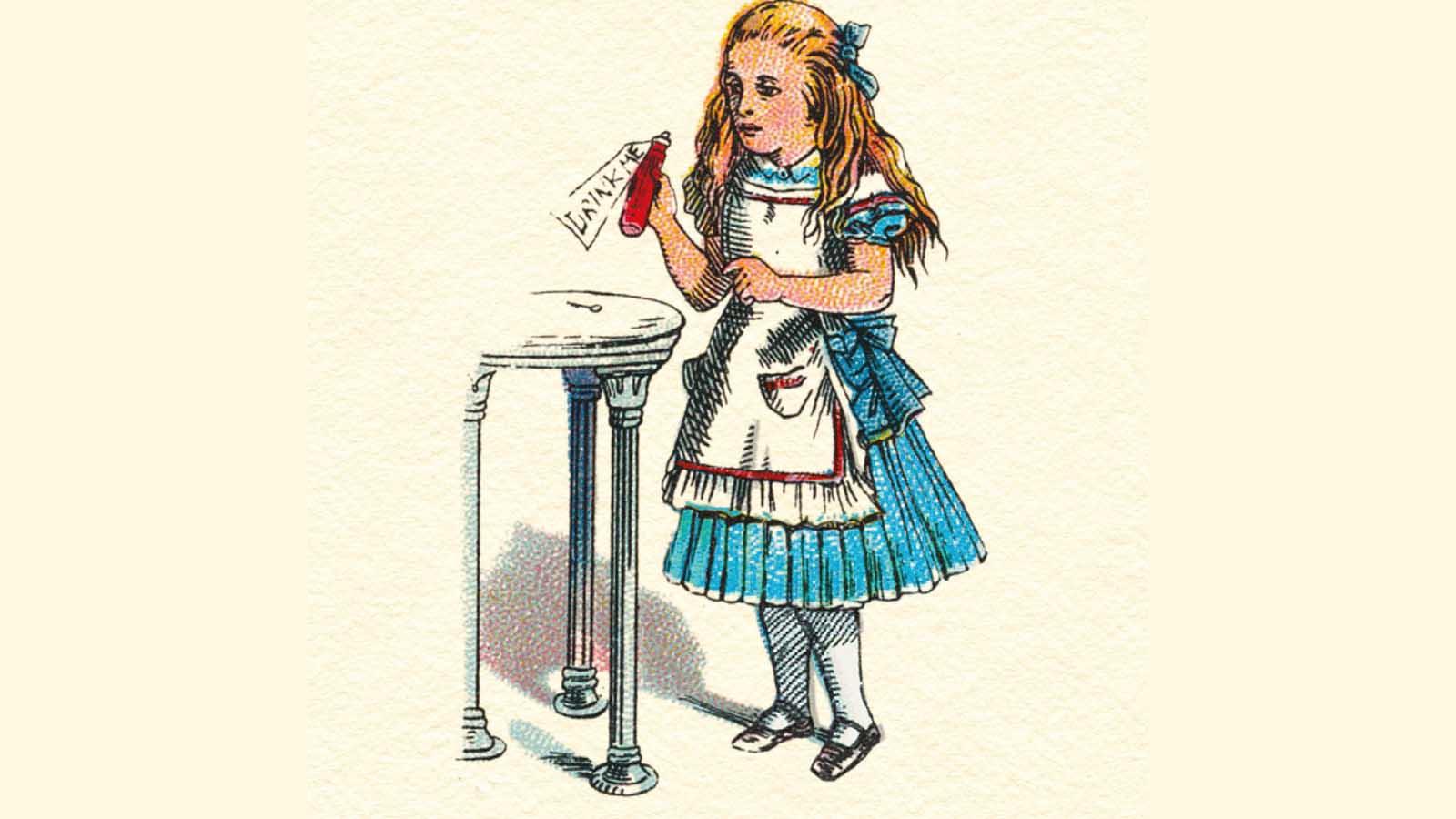 Alive in Wonderland Drink Me illustration