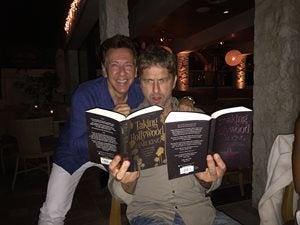 Gerard Butler reading Breaking Hollywood