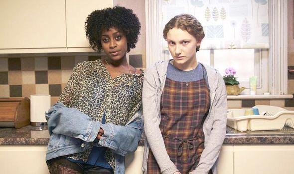 Tallulah Haddon and Simona Brown in Kiss Me First