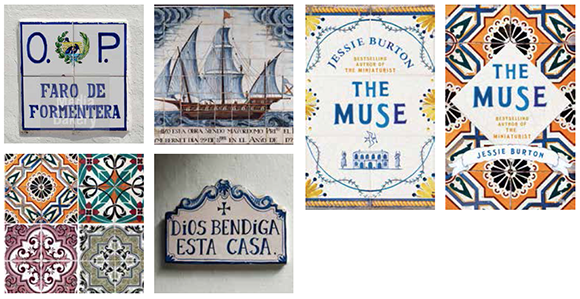 Tiled designs for Jessie Burton's The Muse