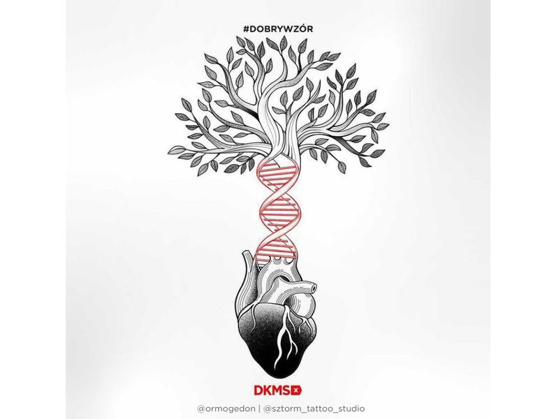 Grafika #dobrywzór - @sztorm_tattoo_studio @ormogedon dla Fundacji DKMS
