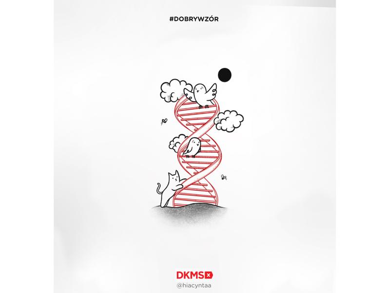 Grafika #dobrywzór - @hiacyntaa dla Fundacji DKMS