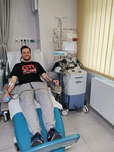 Wojciech Konieczko - Dawca komórek macierzystych