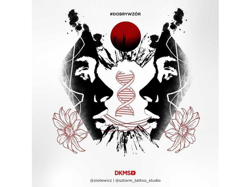 Grafika #dobrywzór - @sztorm_tattoo_studio @ziotewicz dla Fundacji DKMS