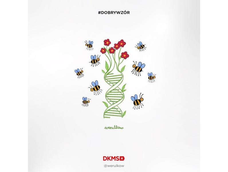 Grafika #dobrywzór - @werulkow dla Fundacji DKMS