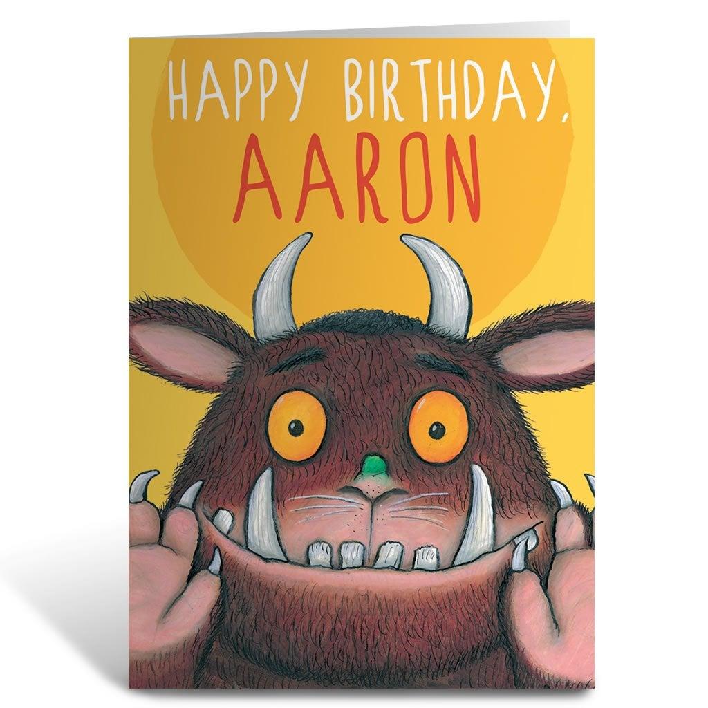 Yellow Gruffalo Personalised Greeting Card