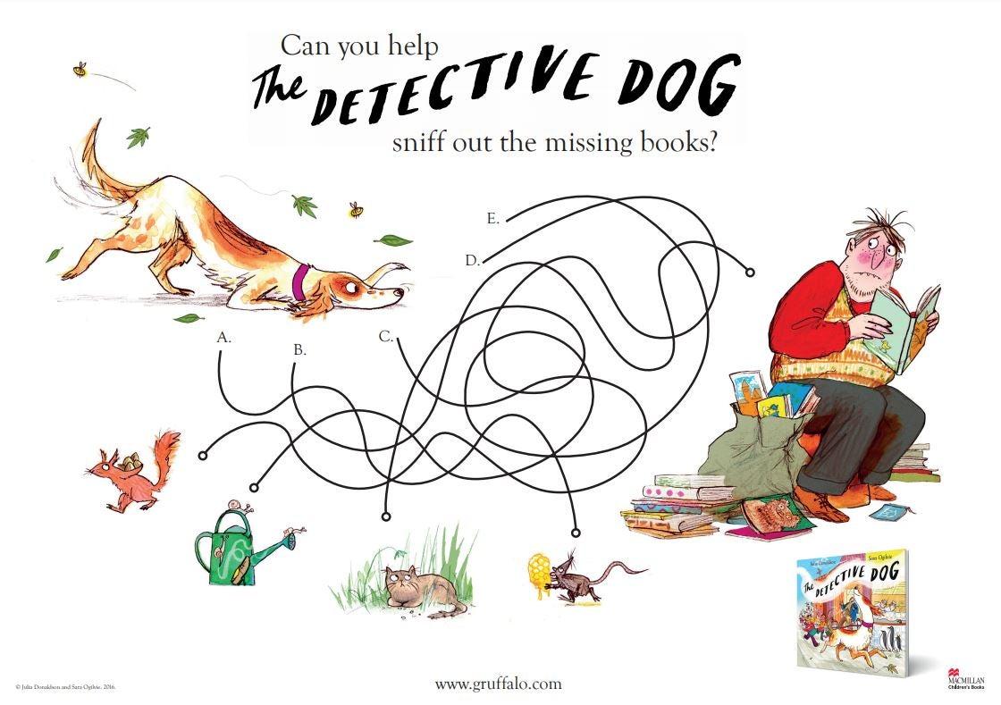 DetectiveDog_find books.JPG