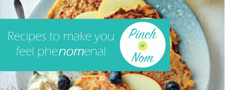 Recipes to make you feel phenomenal - Pinch of Nom - picture of apple and cinnamon pancakes