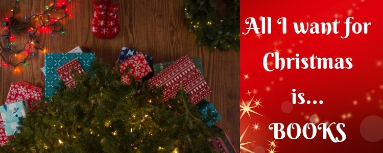 A photo pf presents under the Christmas tree - All I want for Christmas in Books...