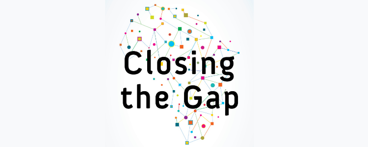 Closing the Gap - Map of Africa joined up my colourful dots