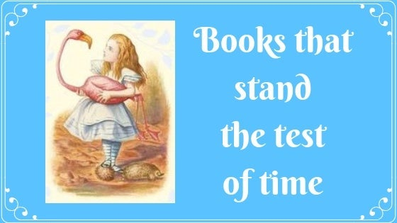 Vintage fairytale image of young girl holding a swan, blog post title: Books that Stand the Test of Time