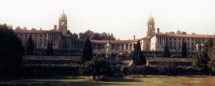 The Union Buildings in Tshwane, South Africa. Photo extracted from the cover ofEight Days in Septemberby Frank Chikane.