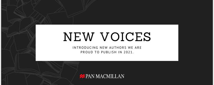 Banner Image with text: New Voices, Introducing new authors we are proud to publish in 2021