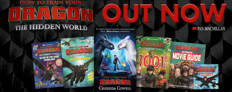 Image of various books int the How to Train Your Dragon Series