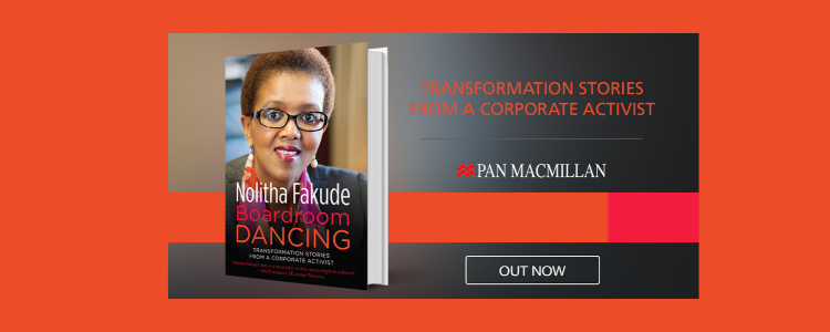 Transformation stories from a Corporate Activist - Picture of book on a red background