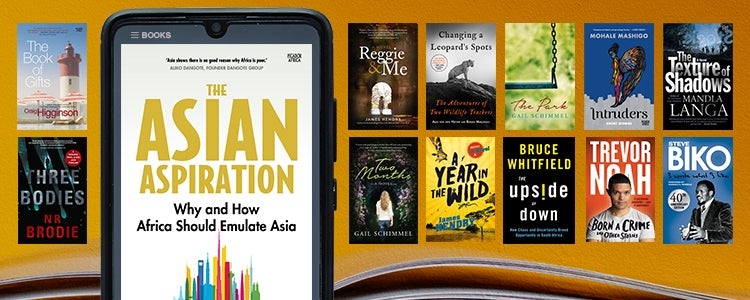 A photo of the book 'The Asian Aspiration' on a tablet/e-reader
