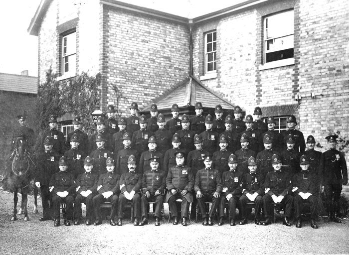 An image of Newbury police station taken in 1925