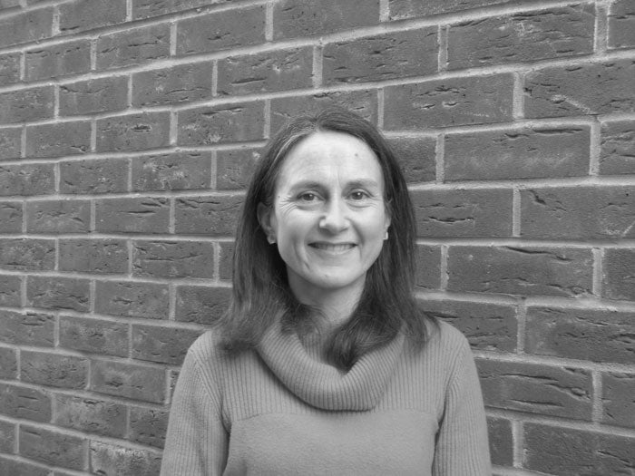 A black and white headshot of Audrey Lloyd, Data Insights Manager at Sovereign Housing Association