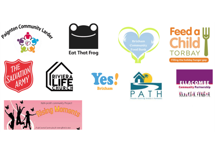Logos of charities involved in International Day of the Eradication of Poverty