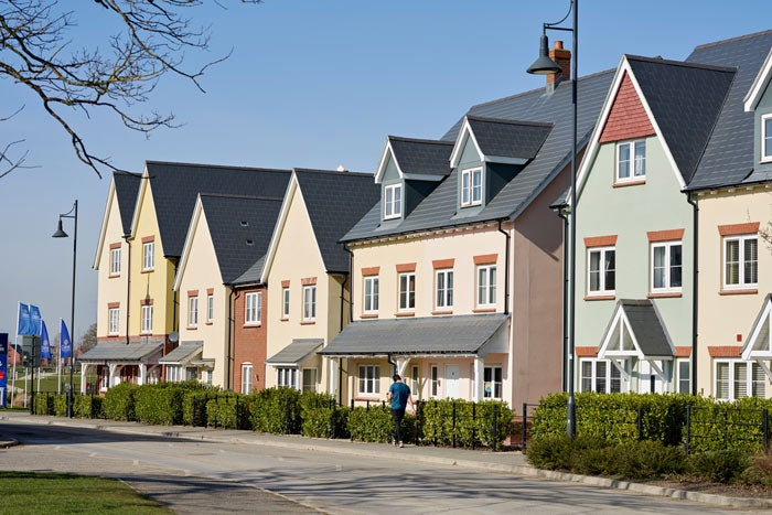 A row of houses at Tadpole Farm