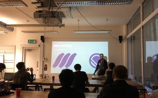 Ilesh presenting at MMT and Gatsby meetup in London