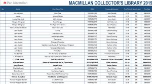Macmillan Collectors Library 2019 Order Form