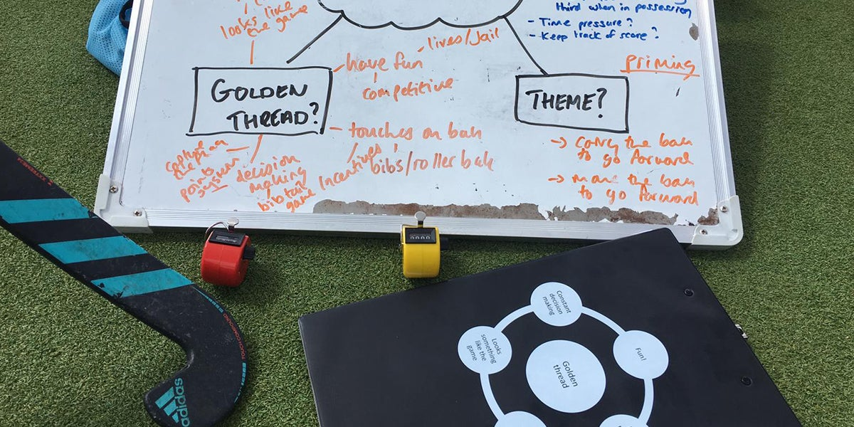 Coach, golden thread and hockey coaching materials