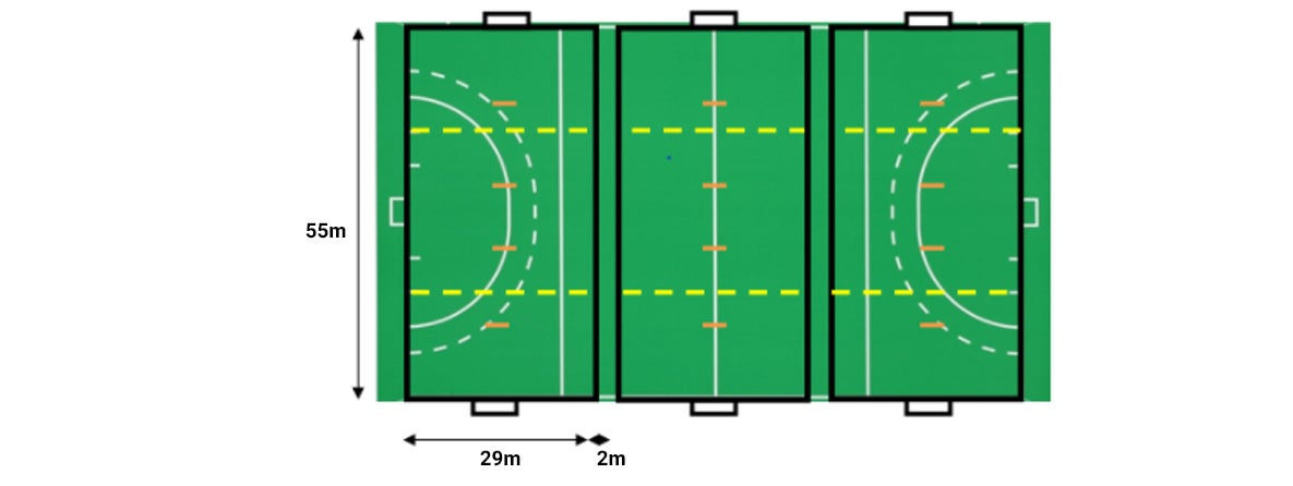 Small sided hockey pitch graphic