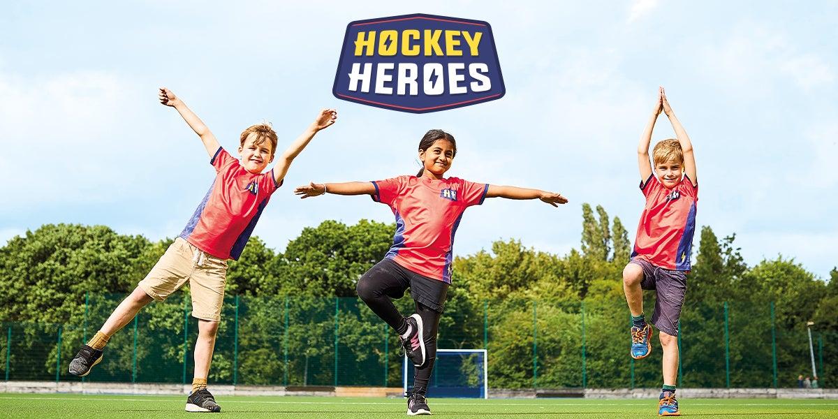 Hockey Heroes - Children show off super hero poses