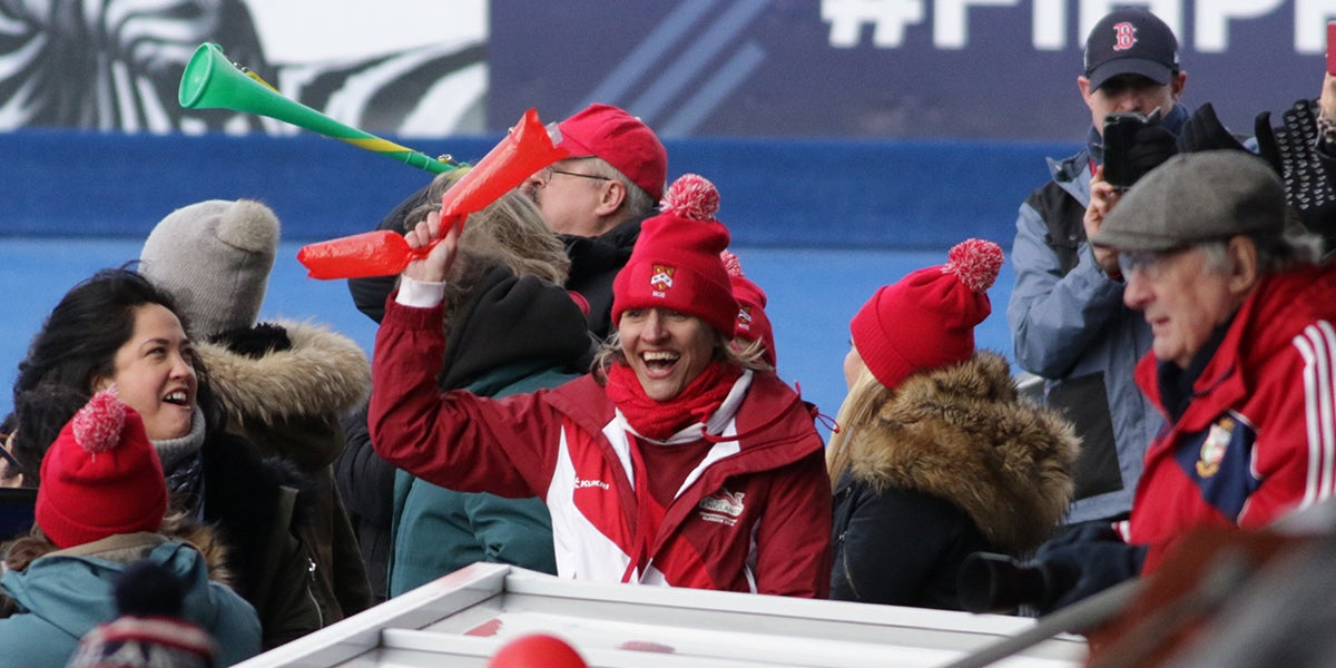 Supporters at the Girls Schools Championships - England Hockey