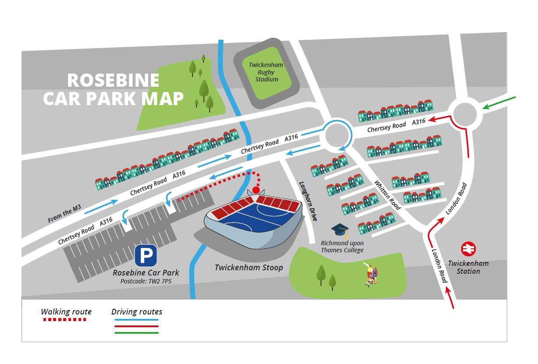 The Stoop Rosebine Parking Map