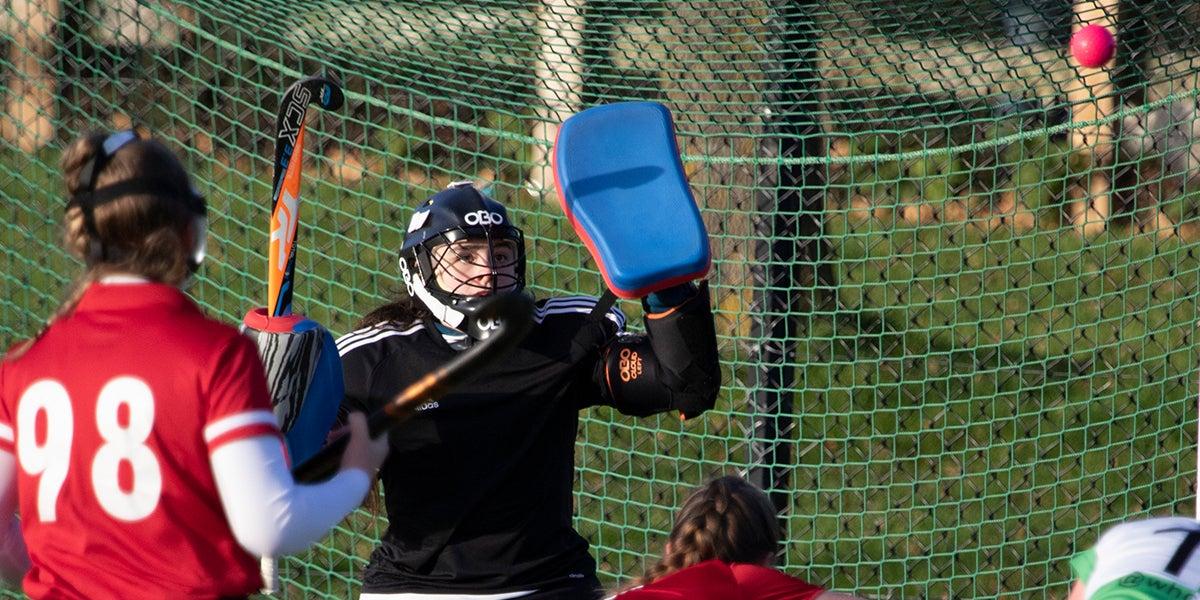Newbury and Thatcham Hockey Club Goalie making a save