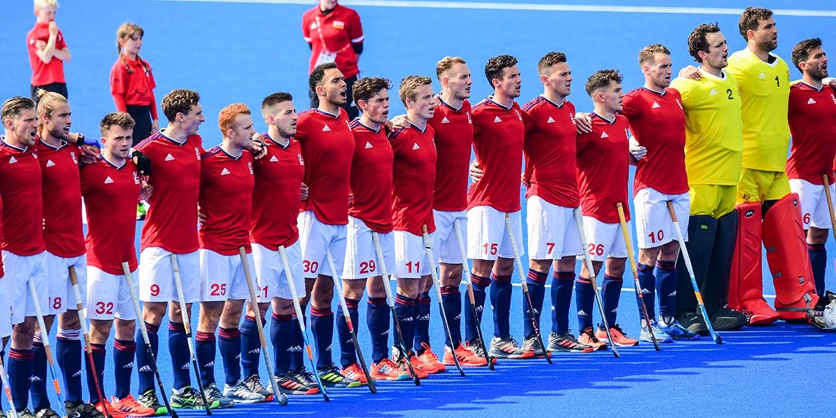 GB hockey mens team squad line up