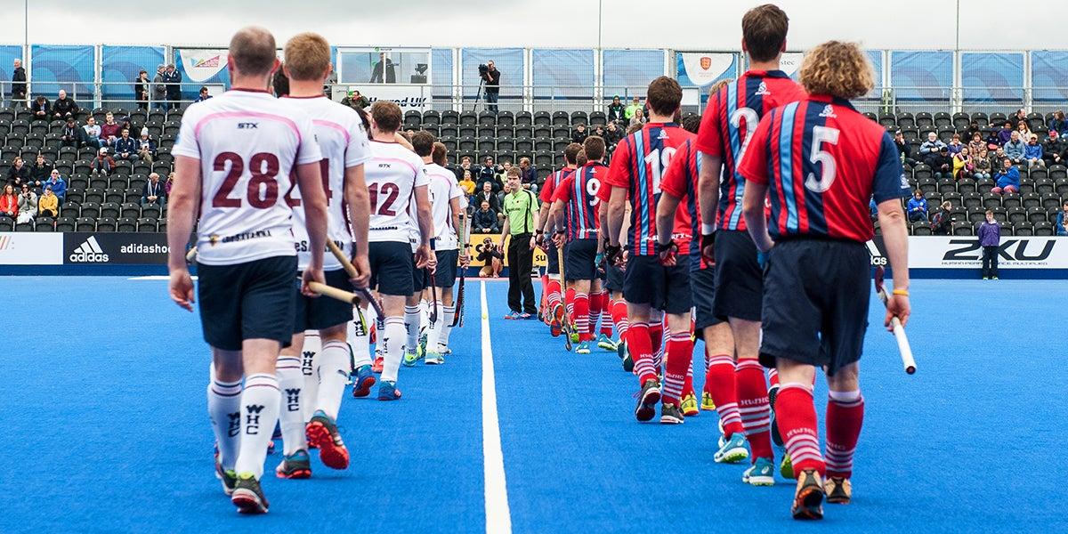 Mens teams walk out at England Hockey Championsips