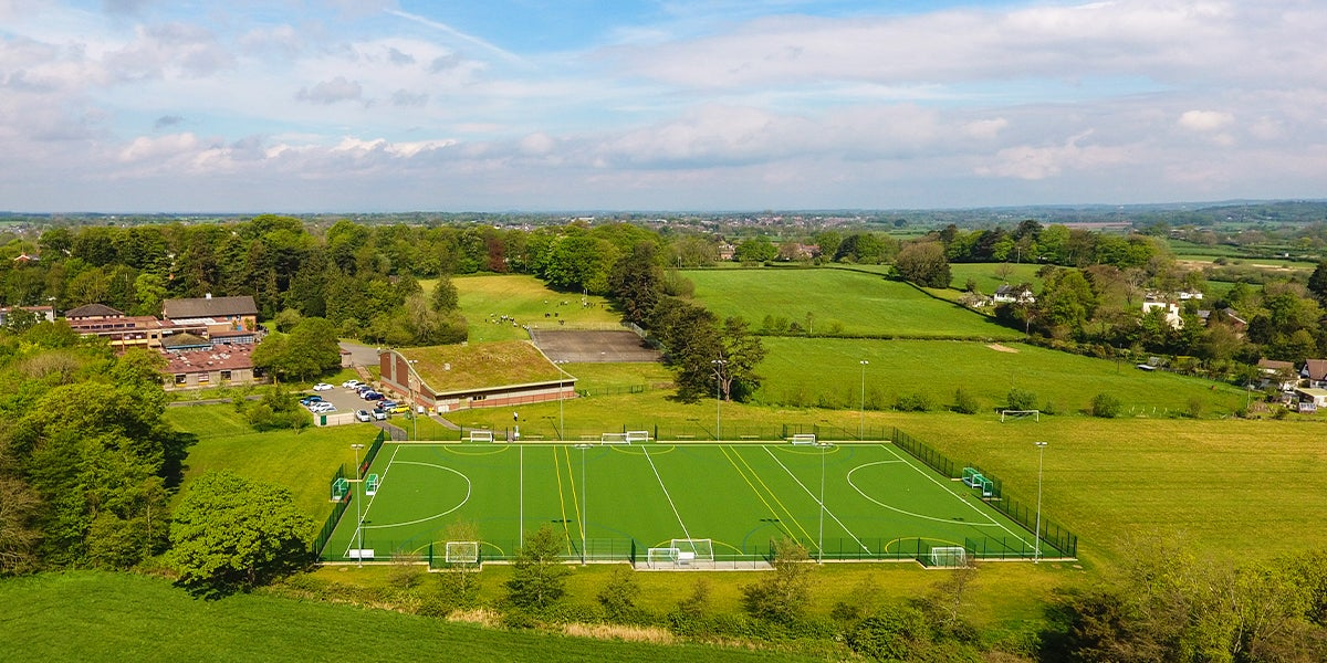 Garstang hockey pitch - Green Pitch in surrounded by trees
