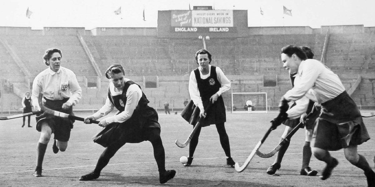 Hockey History - England Women V Ireland at Wembley 1951