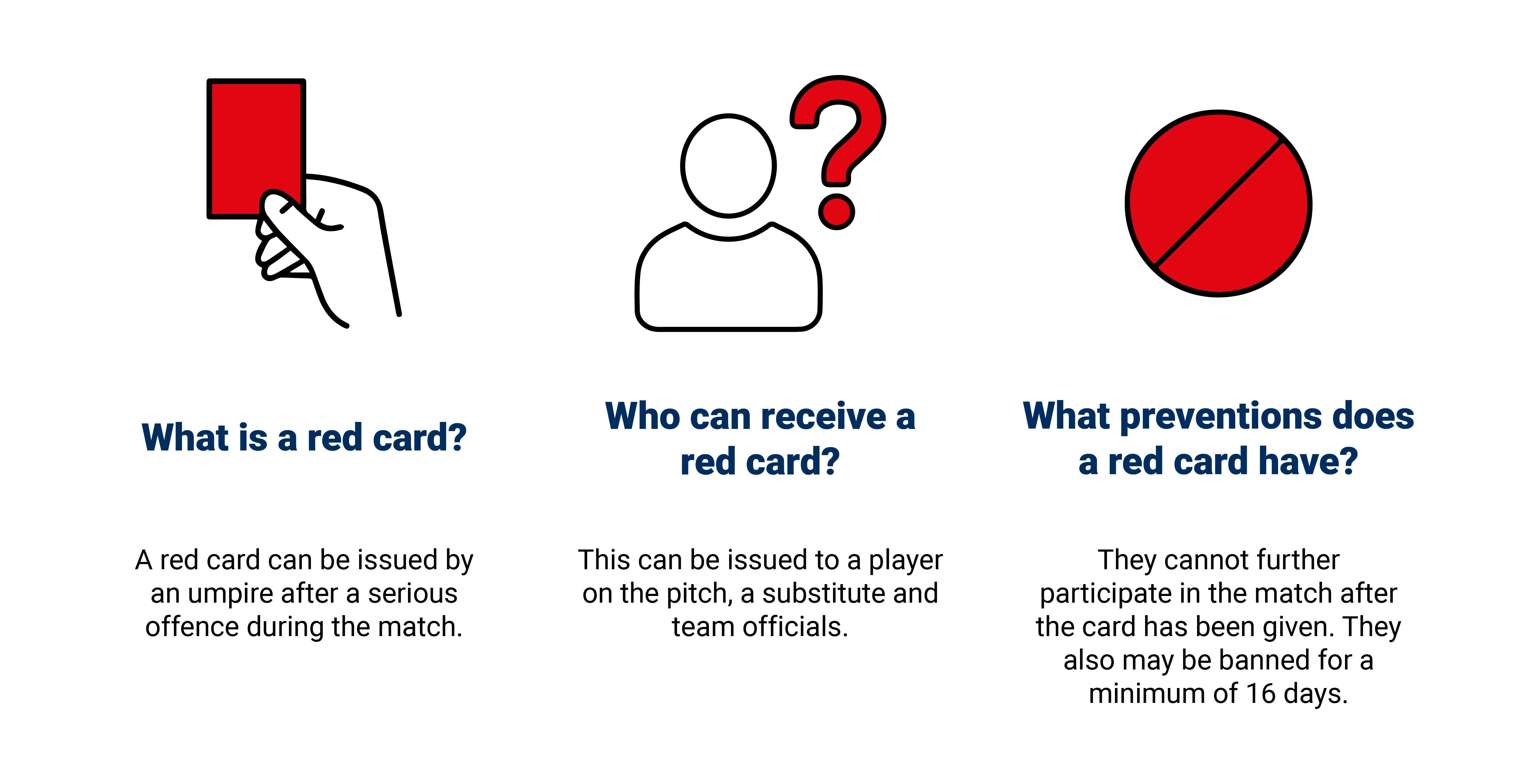 England Hockey Red Card Graphic