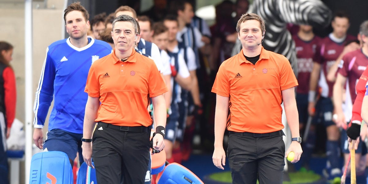 Adult Umpires at England Hockey League Finals