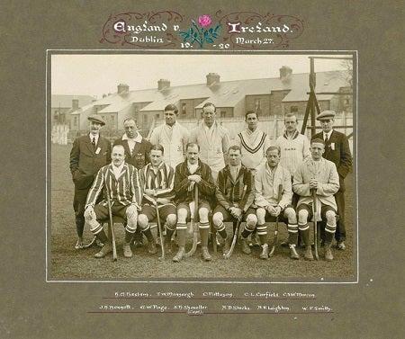 Hockey History - England Mens Team - England V Ireland in Dublin 27 March 1920