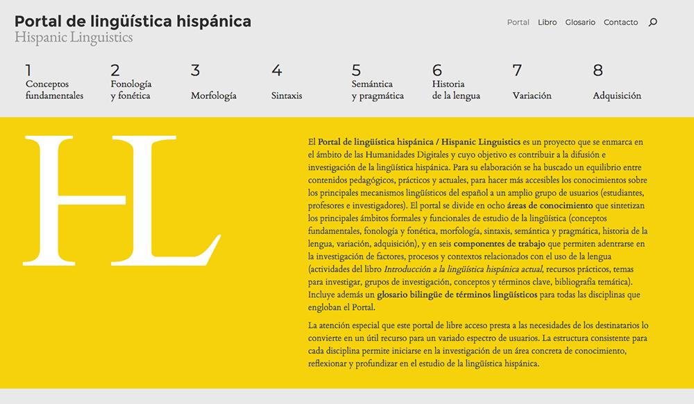 Hispanic Linguistics Portal / Portal de lingüística hispánica.