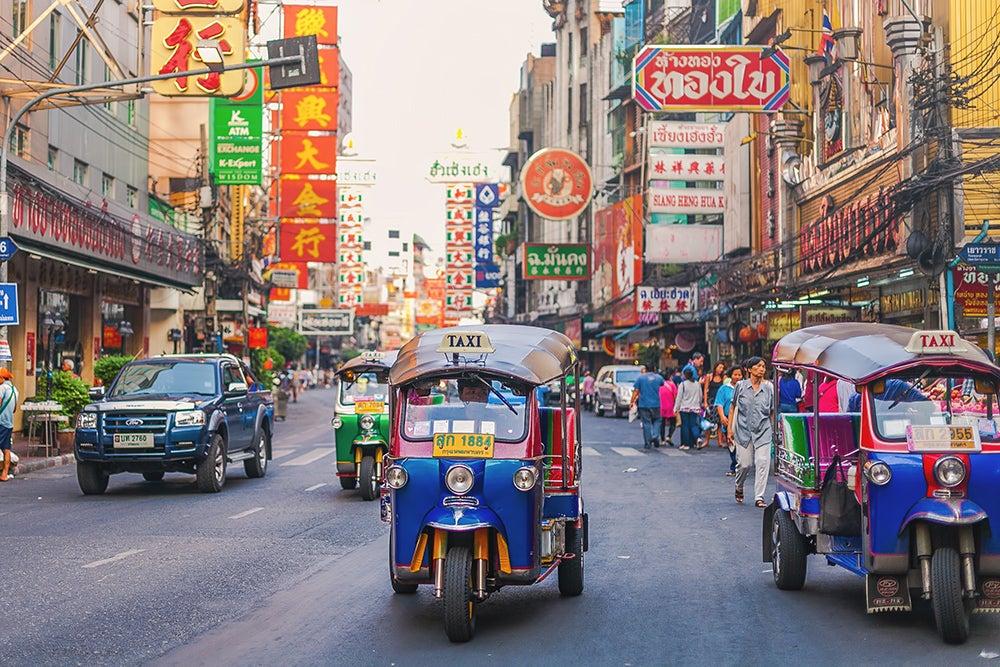 Bangkok street scene.